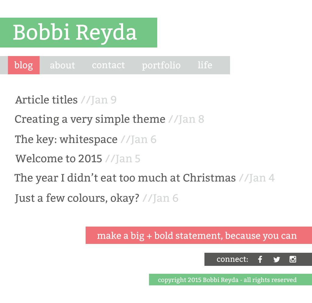 Blog Index Template