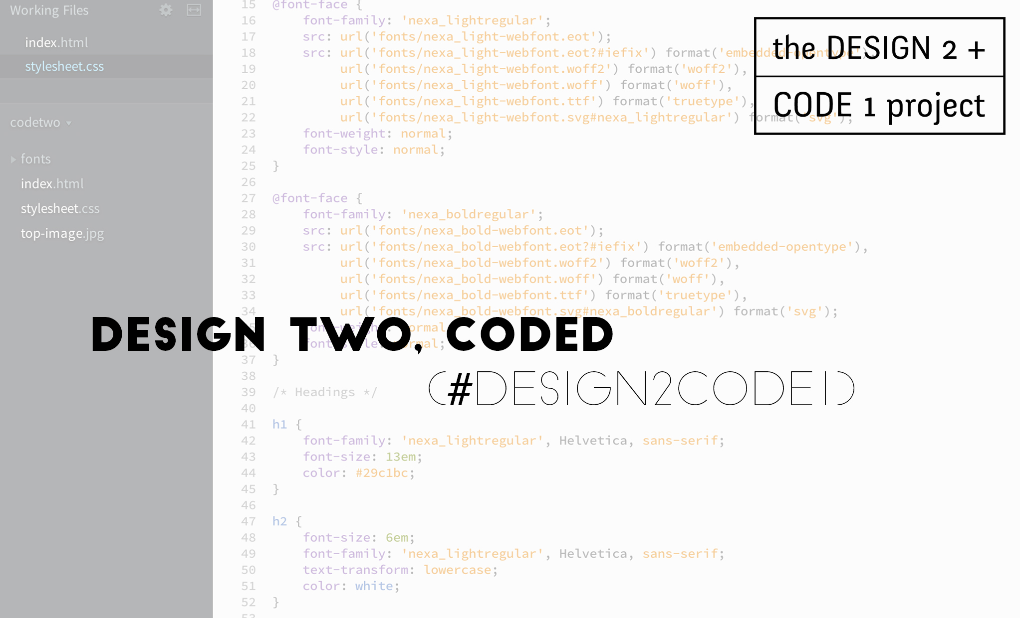 design two, coded